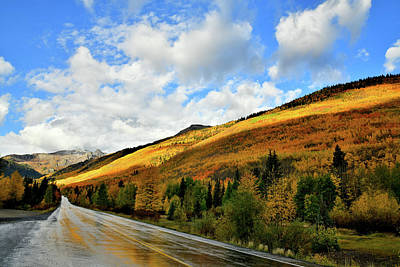 Photograph - Band Of Light On Fall Colors Of Red Mountain Pass by Ray Mathis