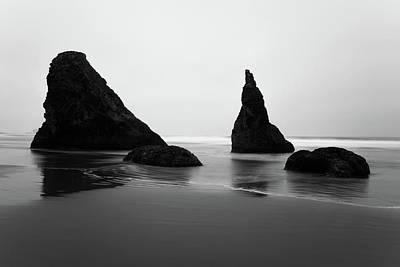 Photograph - Bandon Beach Oregon Bw by Rospotte Photography