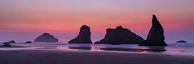 Photograph - Bandon Face Rock Panorama by James Eddy