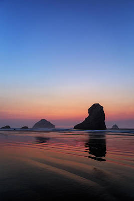 Photograph - Bandon Face Rock Twilight by James Eddy
