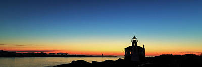 Photograph - Bandon Lighthouse Twilight Panorama by James Eddy