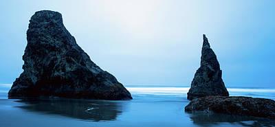 Photograph - Bandon Oregon Blue 101918 by Rospotte Photography