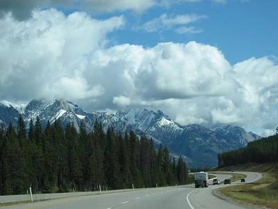 Digital Art - Banff Trip 2007 Car Ride-2 by Doug Morgan