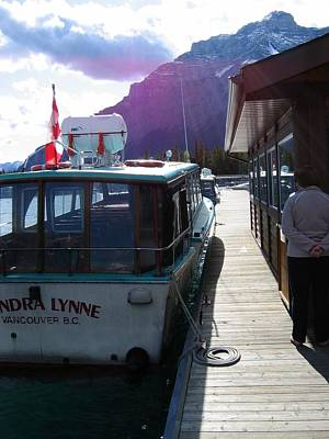 Digital Art - Banff Trip 2007 Lake Louise Boat Trip Dockside   by Doug Morgan