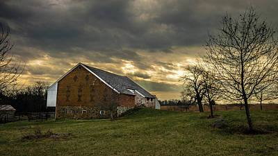 Photograph - Bank Barn Sunrays by Dan Urban