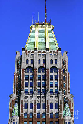 Photograph - Bank Of America Building Close Up Baltimore by James Brunker