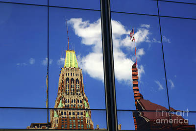 Photograph - Bank Of America Building Reflections Baltimore by James Brunker