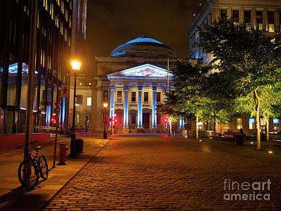 Photograph - Bank Of Montreal Head Office Building In Place Des Armes Montreal by Louise Heusinkveld