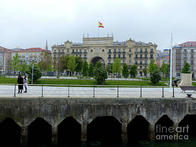 Photograph - Bank Of Santander From The Promenade  by Phil Banks
