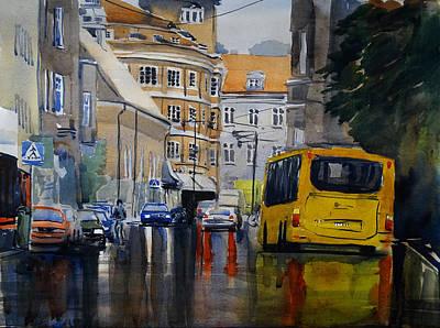 Painting - Bankgatan by Erik Lundgren