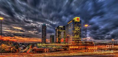 Beers On Tap - Banking Giants 2 Atlantic Station Sunset Atlanta Georgia Art by Reid Callaway