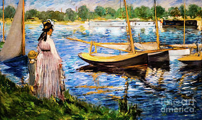 Banks Of The Seine At Argenteuil Art Print