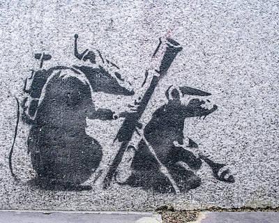 Photograph - Banksy Bazooka Rats by Gigi Ebert