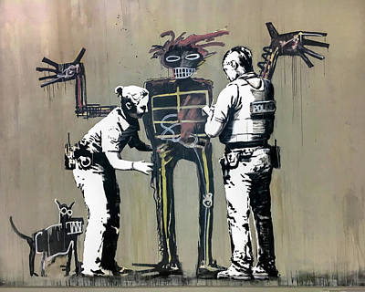 Photograph - Banksy Coppers Pat Down by Gigi Ebert