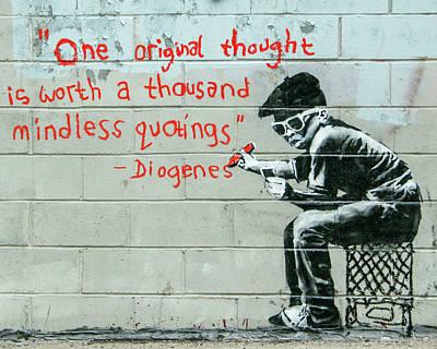 Photograph - Banksy Diogenes by Gigi Ebert