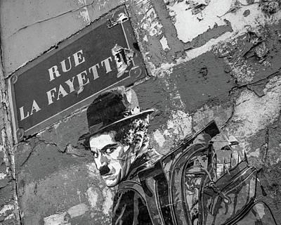 Photograph - Banksy Rue La Lafayette by Gigi Ebert