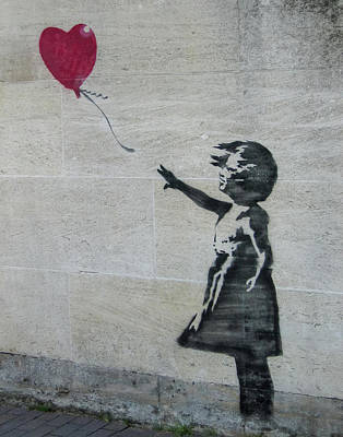 Photograph - Banksy Street Art Balloon Girl by Gigi Ebert