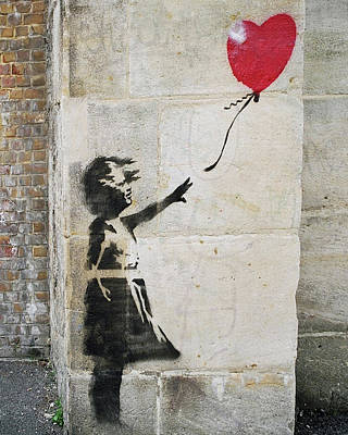 Photograph - Banksy Street Art Girl With Balloon by Gigi Ebert