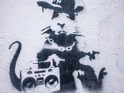 Photograph - Banksy's Gansta Rat by Gigi Ebert