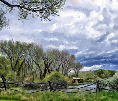 Digital Art - Bannack Montana Spring by Susan Kinney