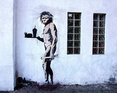 Photograph - Bansky Fast Food Caveman Los Angeles by Gigi Ebert