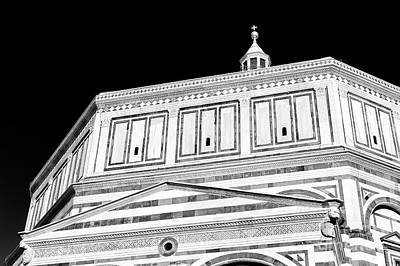 Photograph - Baptistery Of Saint John Lines In Florence by John Rizzuto