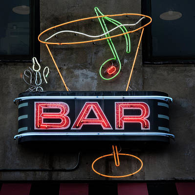 Photograph - Bar Sign by Bud Simpson