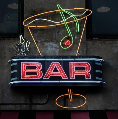 Photograph - Bar Sign by Bud Simpson