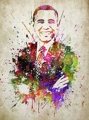 Politicians Royalty-Free and Rights-Managed Images - Barack Obama in Color by Aged Pixel