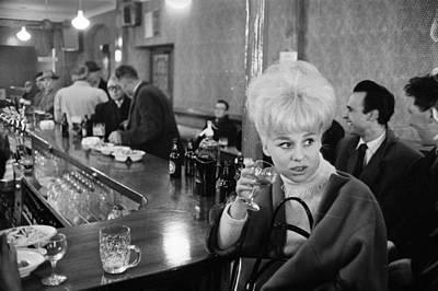 Pub Photograph - Barbara At The Bar by Reg Lancaster