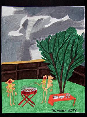 Drawing - Barbara-cue by Barb Moran