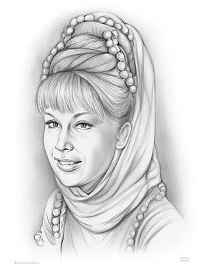 Drawings Royalty Free Images - Barbara Eden Royalty-Free Image by Greg Joens