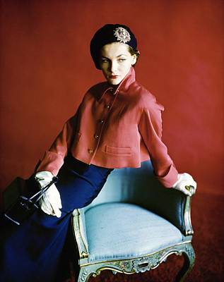 Photograph - Barbara Mullen Wearing Harry Frechtel by Horst P. Horst