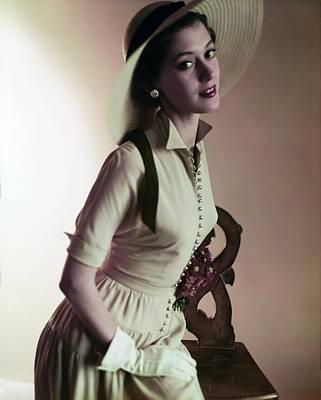 Photograph - Barbara Mullen Wearing Kane-weill by Horst P. Horst