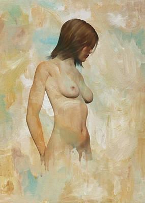Digital Art - Barbara Nude Standing  by Jan Keteleer