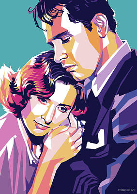 Royalty-Free and Rights-Managed Images - Barbara Stanwyck and William Holden by Stars on Art