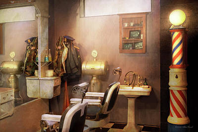 Photograph - Barber - Basement Barber by Mike Savad