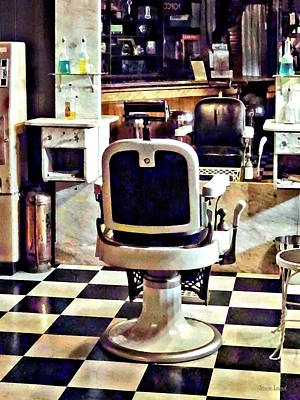 Photograph - Barber Chair And Bottles Of Hair Tonic by Susan Savad