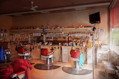Photograph - Barber - Eddie's Barbershop by Mike Savad