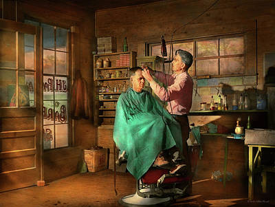 Photograph - Barber - Jh Parham Barber And Notary Public 1941 by Mike Savad