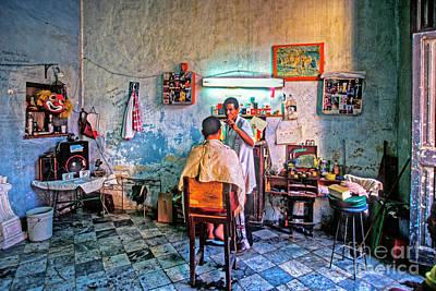 Lovely Lavender - Barber Shop Havana Cuba by David Zanzinger