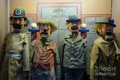 Photograph - Barber Shop Quartet Vintage Penny Arcade Machine Dsc6831 by Wingsdomain Art and Photography