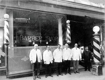Photograph - Barber Shop by Vintage Images