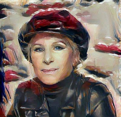 Digital Art - Barbra Streisand by Richard Laeton