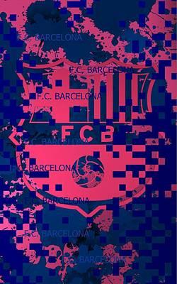 Neymar Wall Art - Digital Art - Barcelona Pixels by Alberto RuiZ