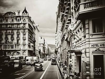 Photograph - Barcelona Street Life by Ana V Ramirez