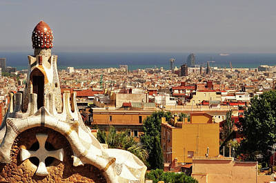 Photograph - Barcelona, View From Park Guell by Stefano Salvetti