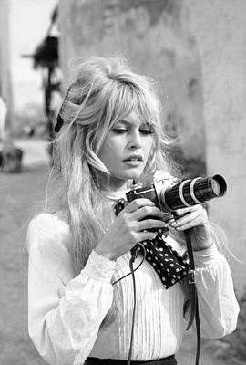 Black And White Photograph - Bardot During Viva Maria Shoot by Ralph Crane