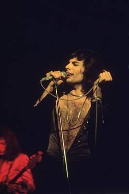 Freddie Mercury Wall Art - Photograph - Bare-chested Freddie by Keystone