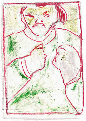 Drawing - Bare Knuckle Boxer 2 by Artist Dot